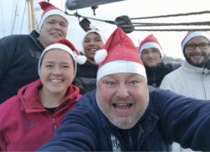 Skonnerten Fulton ønsker god jul